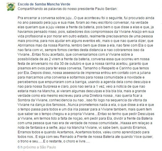 Paulo Serdan fala sobre Juju Salimeni (Foto: Reprodução/Facebook)
