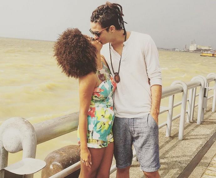 Jeniffer Nascimento com o namorado, o ator Jean Amorim (Foto: Arquivo Pessoal)