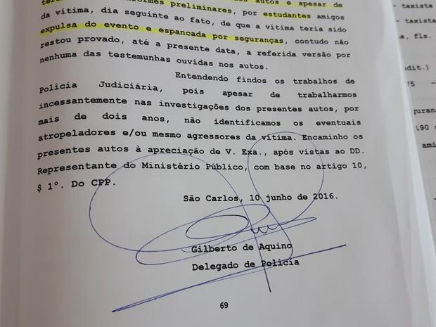 Caso foi arquivado São Carlos (Foto: Carol Malandrino/G1)