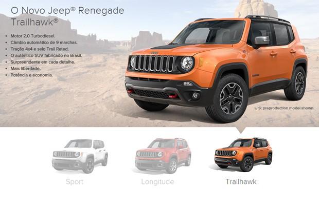 Jeep Renegade Trailhawk (Foto: Reprodução)