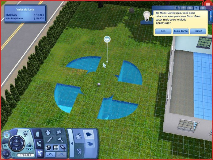 The Sims 3 No Futuro: Inovações no formato da piscina