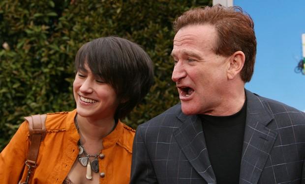 Zelda e o pai, Robin Williams, em abril de 2006 (Foto: Getty Images)