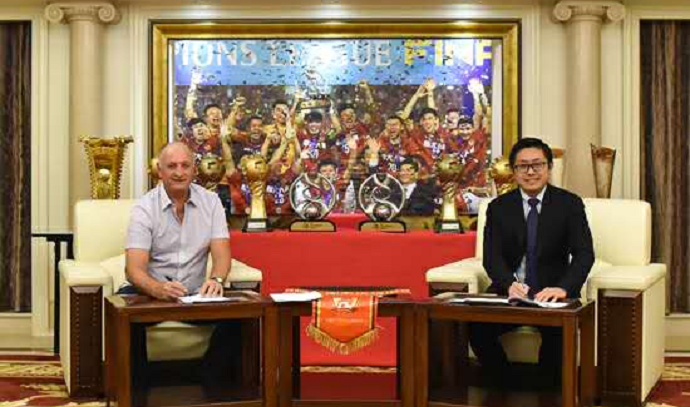 Luiz Felipe Scolari Felipão Guangzhou Evergrande (Foto: Divulgação/Site oficial do Guangzhou)