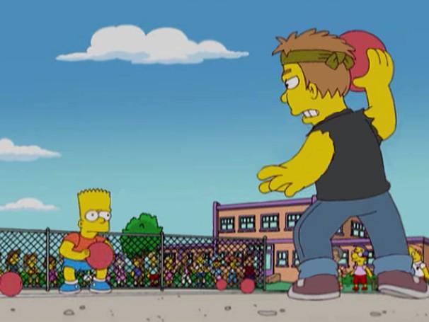 Os Simpsons - Partida de queimada provoca racha entre as turmas do quarto e do quinto ano do colégio de Bart (Foto: Divulgação / Twentieth Century Fox)