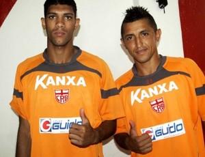 Djavan e Thiago Potiguar no CRB (Foto: Júnior de Melo/Ascom CRB)