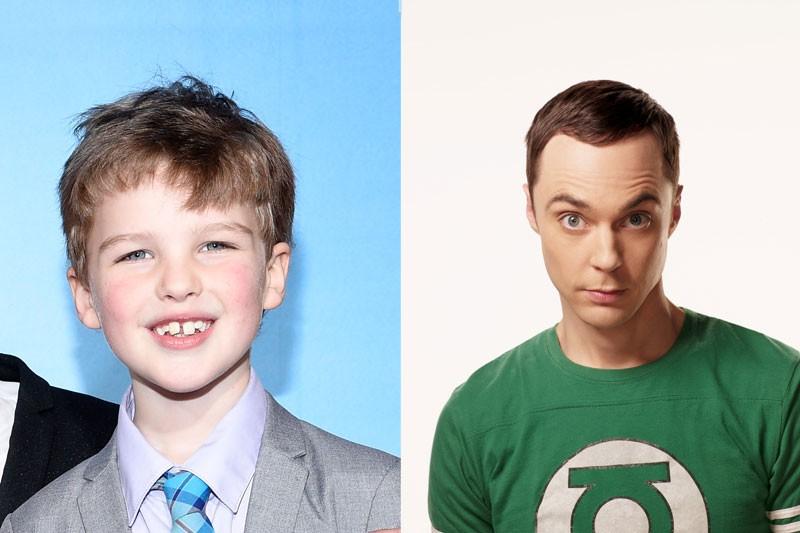 Iain Armitage e Jim Parsons, os intérpretes de Sheldon Cooper (Foto: Getty e divulgação)