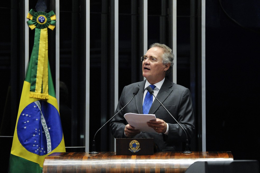 O senador Renan Calheiros (PMDB-AL), atual líder do PMDB (Foto: Edilson Rodrigues/Agência Senado)