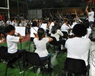 Concerto acontece na Igreja Matriz de São Benedito (Foto: Gilberto da Silveira/ Divulgação Projeto Semeando Música)