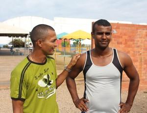 Valber e Murilo são do time de recuperados e fazem parte do 'Tô de Alta' (Foto: Larissa Vieira/GLOBOESPORTE.COM)