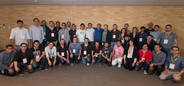 Startups participantes do Google Launchpad Accelerator reunidas em evento em São Paulo (Foto: Marcelo Machado de Melo)