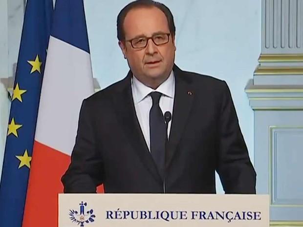 Hollande comenta o ataque (Foto: Reprodução/Twitter/Elysée)