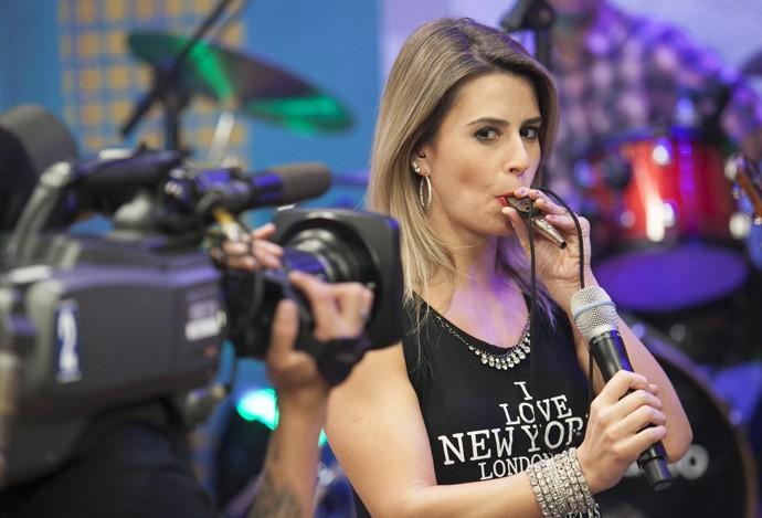Daiane Fardin Estúdio C (Foto: Luiz Renato Correa/RPC)