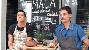 Lucas e Gustavo - Maçã padaria artesanal (Foto: Reprodução/RPC)