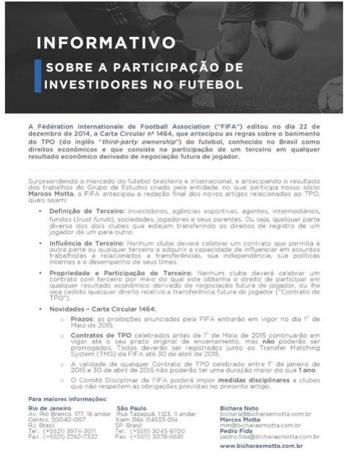 Comunicado Fifa (Foto: Reprodução / Internet)