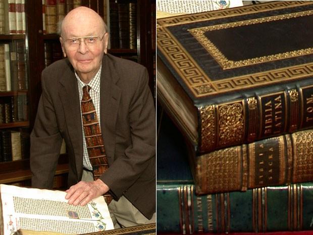 William Scheide deixou coleção com as seis primeiras edições impressas da Bíblia (Foto: Denise Applewhite/Divulgação/Princeton University)