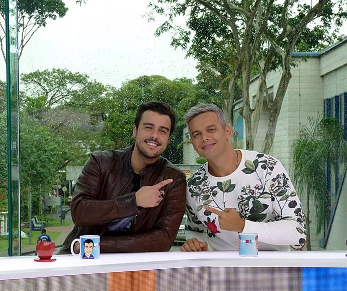 Joaquim Lopes e Otaviano Costa (Foto: Cristina Cople / Gshow)