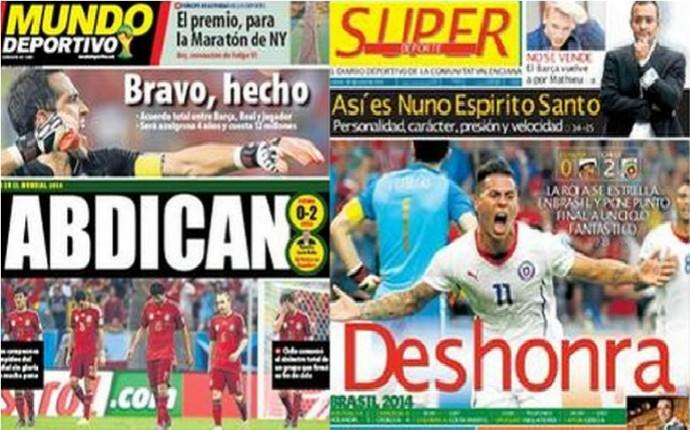 Capas Espanha 19/06 (Foto: Reprodução)