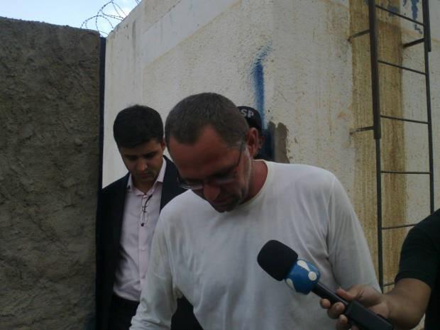 Fazendeiro Regivaldo Galvão deixou o presídio de Altamira às 15h desta quarta-feira (22) (Foto: Glaydson Castro/TV Liberal)
