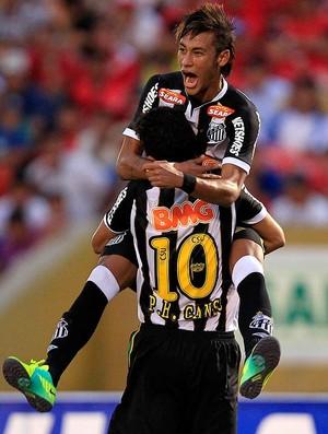 ganso neymar santos gol juan aurich libertadores (Foto: Agência Reuters)