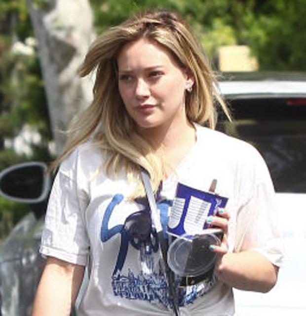 Hilary Duff sem maquiagem (Foto: Reprodução)