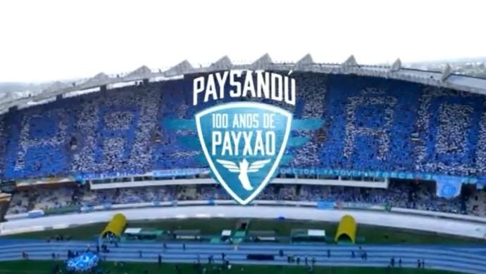 Lançamento do filme sobre o Paysandu em Macapá (Foto: Reprodução)