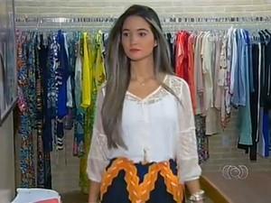 Roupas leves, com ou sem estampas, ajudam a mulherada a enfrentar o calor do Tocantins (Foto: Reprodução/TV Anhanguera)