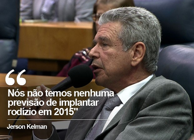 Jerson Kelman descarta rodízio em 2015 durante CPI da Sabesp (Foto: Reprodução/TV Globo)