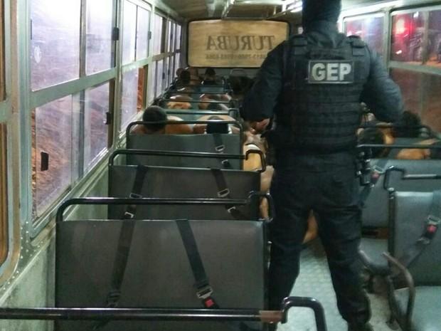 Presos foram retirados de Alcaçuz  (Foto: G1/RN)