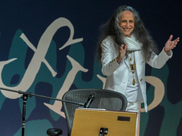 Maria Bethânia leu poemas de Fernando Pessoa no terceiro dia da Flip (Foto: Flavio Moraes/G1)