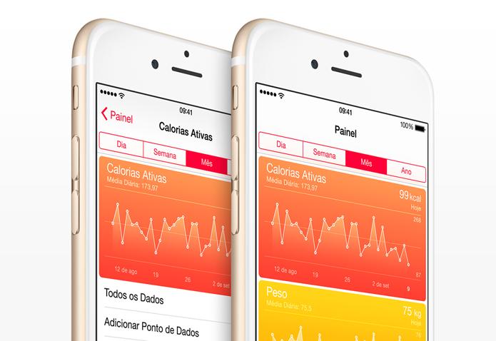 Aplicativo Saúde faz parte do iOS 8 e reúne informações úteis sobre a saúde do usuário (Foto: Divulgação)