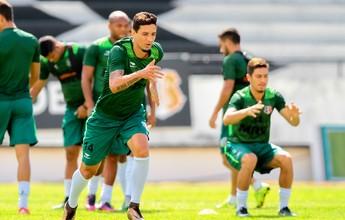 Leo Costa treina parte física no Santa  e só deve trabalhar com bola na quinta