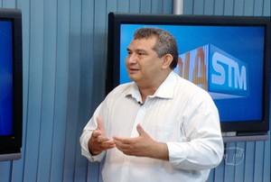 Cléo Neves,  comentarista da TV Tapajós (Foto: Reprodução/TV Tapajós)