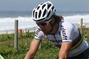 Campeão mundial de ciclismo, Peter Sagan conheceu trajeto da prova de ciclismo estrada do Rio 2016 (Foto: Divulgação)
