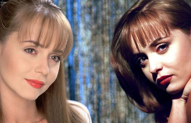 Ne pele das gêmeas Paulina e Paola Bracho de 'A Usurpadora' (1998) (Foto: Reprodução)