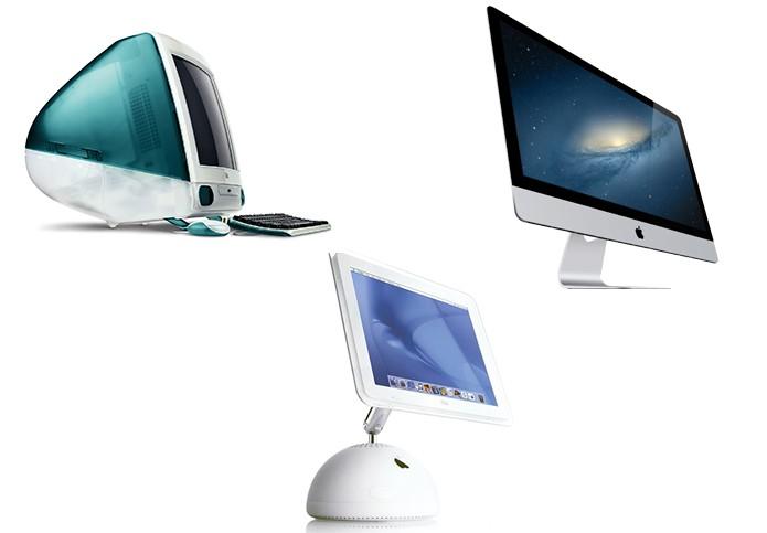 iMac já teve diversas gerações desde o lançamento (foto: Arte/Divulgação)