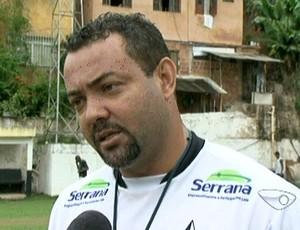 Paulo Ferreira não é mais o técnico do Estrela (Foto: Reprodução/TV Gazeta Sul) - paulo_ferreira