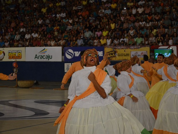 Retirantes do Sertão é do município de Frei Paulo e trouxe como tema o racismo  (Foto: Tássio Andrade/G1)