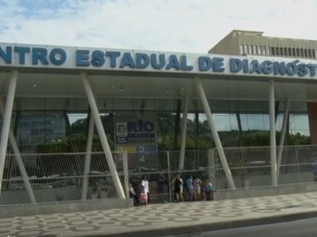 Centro de Diagnóstico por Imagem fechado  (Foto: Reprodução/TV Globo)