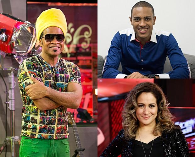 Romero Ribeiro e Paula Marchesine se comparam com Brown (Foto: Isabella Pinheiro/Camila Serejo/Gshow)