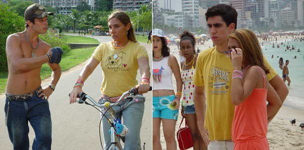 Thiago Rodrigues e Marcelo Adnet estrearam no cinema em 'O Diário de Tati' (2012) (Foto: Divulgação/Reprodução)