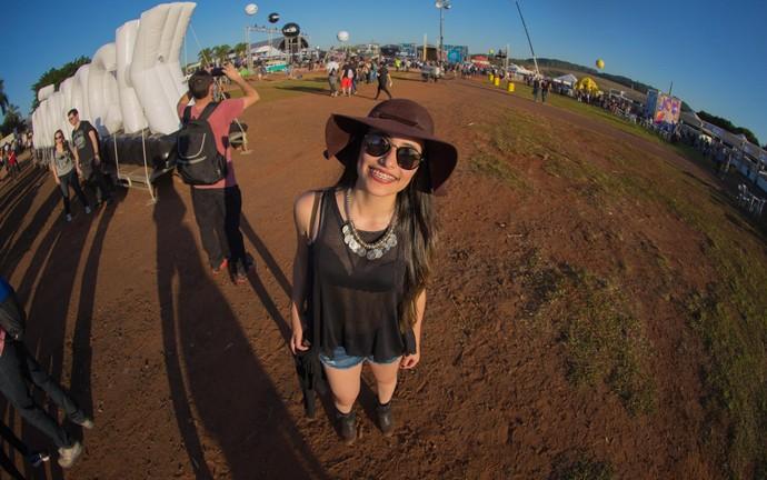 Heloisa Gonçalves, de Poços de Caldas (MG, no João Rock 2016 (Foto: Mateus Rigola/Gshow)