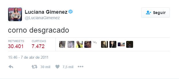 Luciana Gimenez post no Twitter (Foto: Reprodução / Twitter)