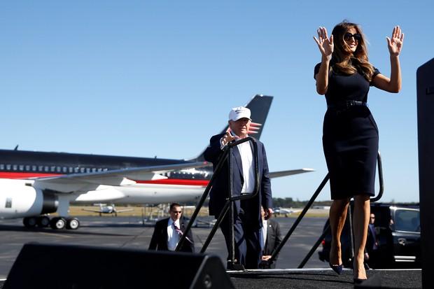 Donald Trump e Melania durante campanha (Foto: Reuters)