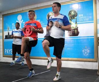 Jogadores do Paysandu seguem realizando trabalhos físicos (Foto: Jorge Luiz/Paysandu)