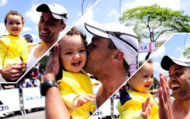 montagem Davi Maratonista Maratona de São Paulo (Foto: Marcos Ribolli / Globoesporte.com)