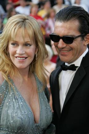 Melanie Griffith e Antonio Banderas (Foto: AFP)