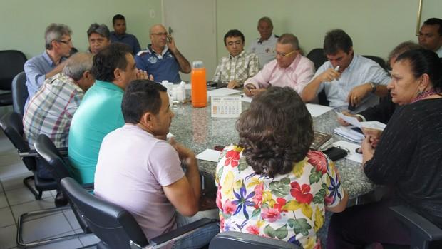 Reunião do Conselho Arbitral do Campeonato Paraibano 2013 (Foto: Lucas Barros / Globoesporte.com/pb)