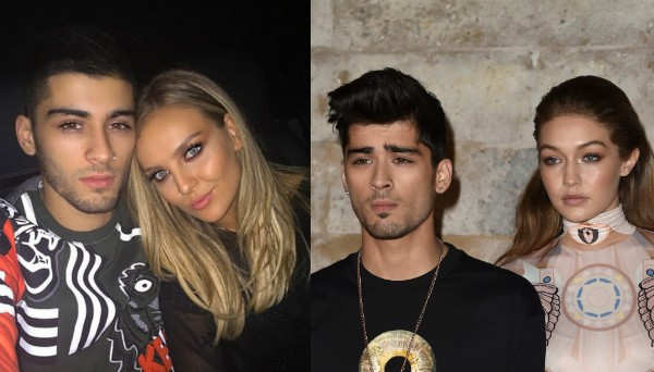 Zayn Malik com Perrie Edwards e com Gigi Hadid (Foto: Instagram/Getty Images)