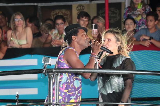 Luis Miranda canta com Claudia Leitte no Fortal (Foto: Fred Pontes / Divulgação)