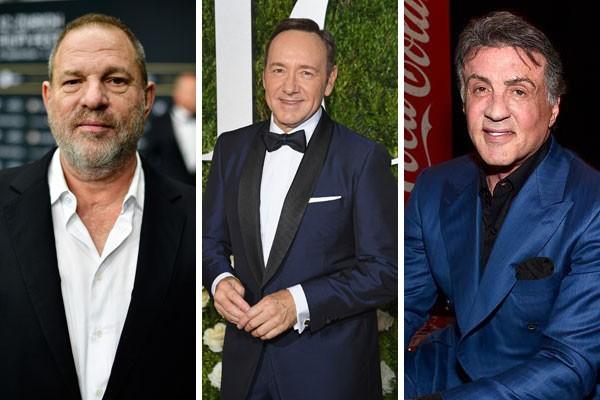 Harvey Weinstein, Kevin Spacey e Sylvester Stallone são alguns dos principais acusados de assédio em Hollywood (Foto: Getty Images)